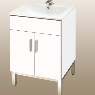 Daytona 21 Bathroom Vanity Hardware: Polished, Color: White Matte