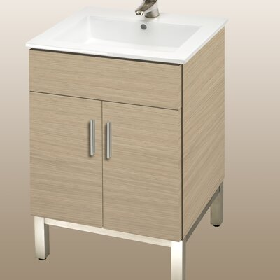 Daytona 21 Bathroom Vanity Color: Pickled Oak, Hardware: Polished