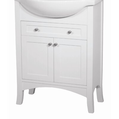 Petite Empress 20 Bathroom Vanity Base Width: 22, Base Finish: White