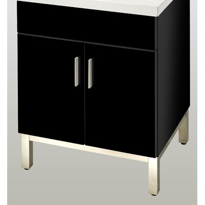 Daytona 23 Single  Bathroom Vanity Base Base Finish: Black Gloss, Hardware: Polished