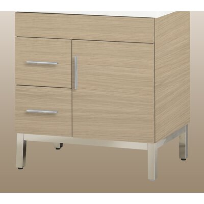 Daytona 28.5 Single Bathroom Vanity Base Base Finish: Pickled Oak, Hardware: Satin, Orientation: Left