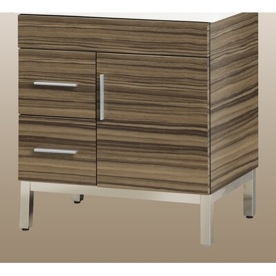 Daytona 28.5 Single Bathroom Vanity Base Base Finish: Timber Gloss, Hardware: Satin, Orientation: Left