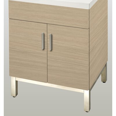 Daytona 23 Single  Bathroom Vanity Base Base Finish: Pickled Oak, Hardware: Polished
