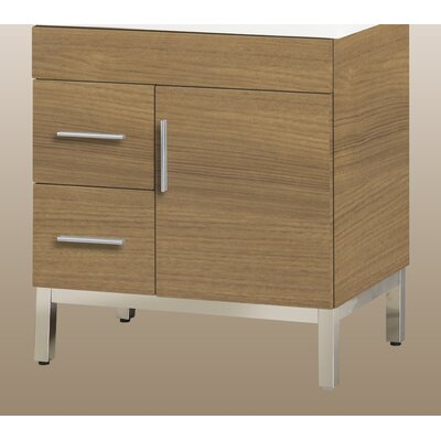 Daytona 28.5 Single Bathroom Vanity Base Orientation: Left, Hardware: Satin, Base Finish: Golden Wheat