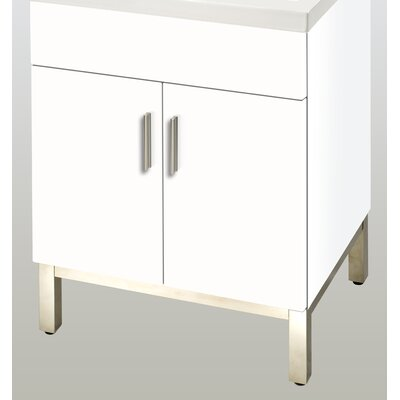 Daytona 23 Single  Bathroom Vanity Base Base Finish: White Gloss, Hardware: Satin