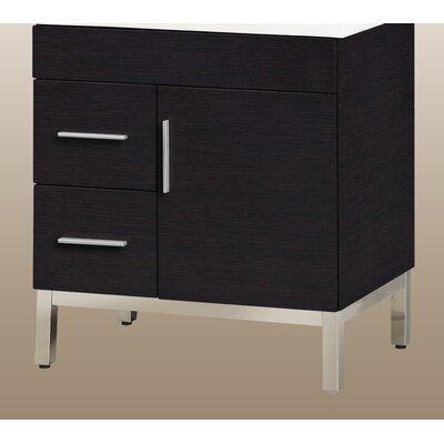 Daytona 28.5 Single Bathroom Vanity Base Orientation: Left, Hardware: Satin, Base Finish: Blackwood