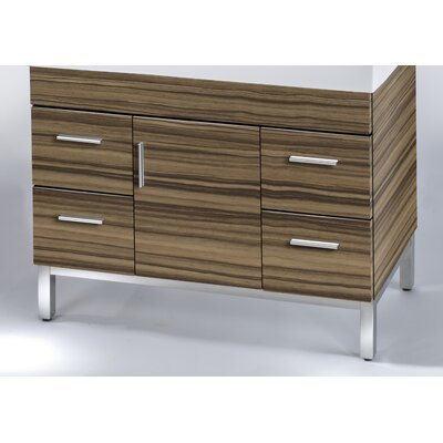 Daytona 38.5 Single Bathroom Vanity Base Base Finish: Timber Gloss, Hardware: Satin