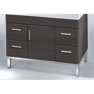 Daytona 38.5 Single Bathroom Vanity Base Base Finish: Greyline Gloss, Hardware: Satin