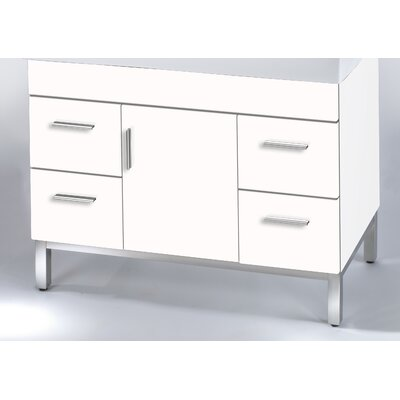 Daytona 38.5 Single Bathroom Vanity Base Hardware: Polished, Base Finish: Greyline Gloss