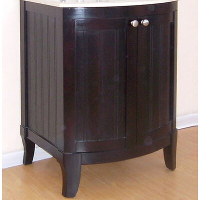 Malibu 100 Single Bathroom Vanity Base Base Finish: Dark Mahogany, Size: 24