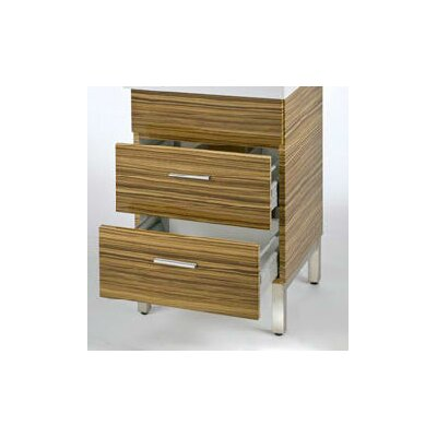 Daytona 18 Single Bathroom Vanity Base Base Finish: Timber Gloss, Hardware: Polished
