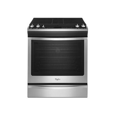Whirlpool 5.8 cu. ft. Front-Control Gas Range Plus True Convection - Color: Stainless Steel