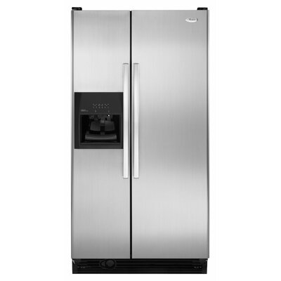 25 cu. ft. Full-Width Adjustable Slide-Out Spillguard Glass Shelves Side-By-Side Refrigerator