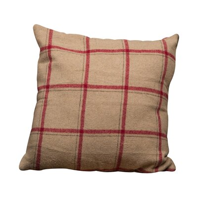 Tan Flannel Wool Throw Pillow