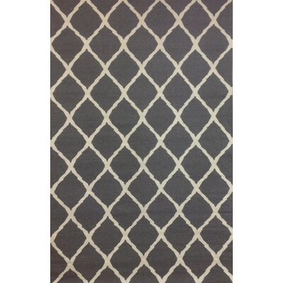 Abbott Grey & Ivory Diamond Area Rug Rug Size: 5 x 8