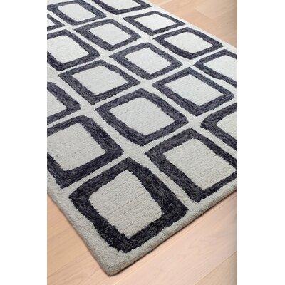 Adelheide Ivory/Charcoal Area Rug Rug Size: 5 x 8