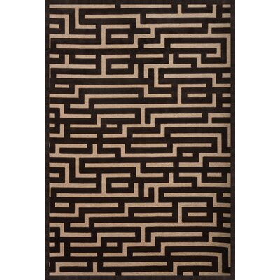 Teague Charcoal/Beige Area Rug Rug Size: 53 x 76