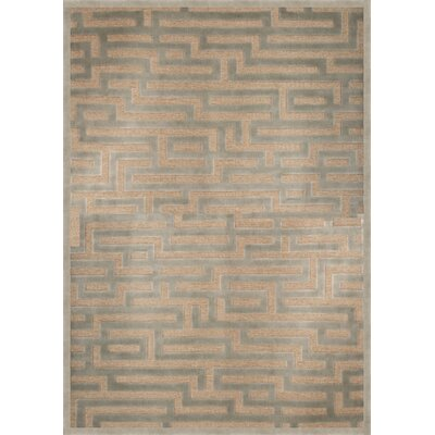 Teague Light Blue/Grey Area Rug Rug Size: 53 x 76