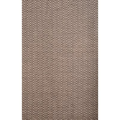 Bernardston Dark Brown Rug Rug Size: 8 x 10