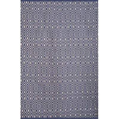 Bernardston Blue/White Rug Rug Size: 5 x 8