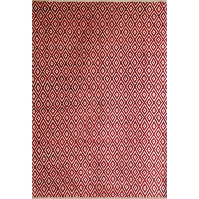 Bernardston Red/White Rug Rug Size: 8 x 10