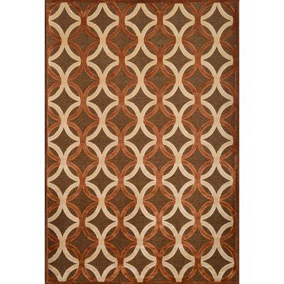 Coronado Chocolate/Ivory Geometric Area Rug Rug Size: 53 x 76