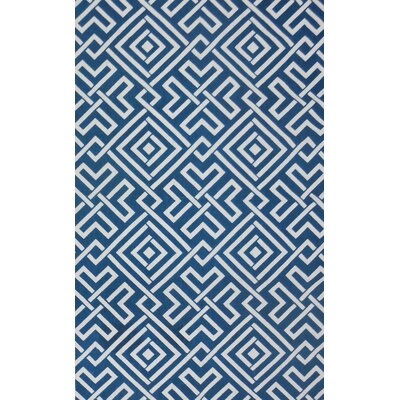 Salon Teal/Ivory Area Rug Rug Size: Rectangle 8 x 10