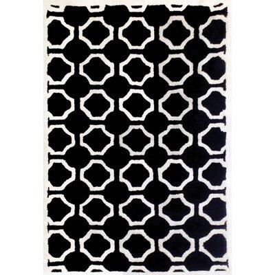 Atchley Dakin White/Black Trellis Rug Rug Size: 5 x 8