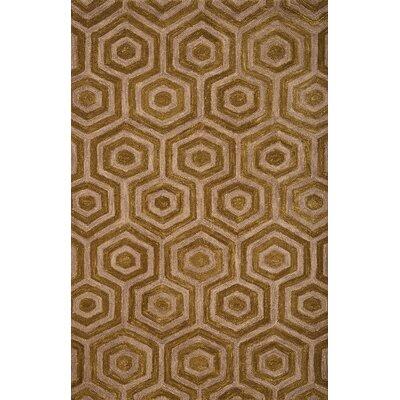 Adelheide Chartreuse/Beige Geometric Rug Rug Size: 5 x 8