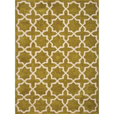 Cranmore Hollis White/Chartreuse Trellis Rug Rug Size: 5 x 8