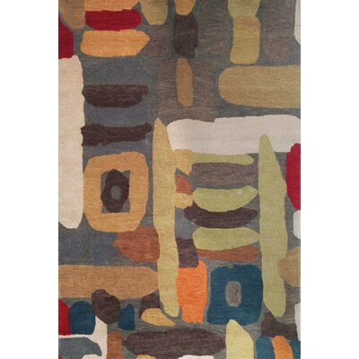 Lifestyle Dali Hand Tufted Wool Blue/Yellow Area Rug Rug Size: Rectangle 5 x 8