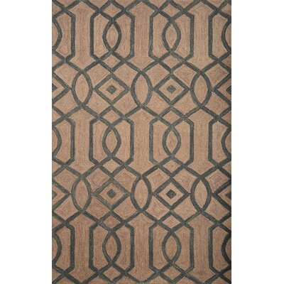 Adelheide Light Blue/Natural Geometric Rug Rug Size: 5' x 8'