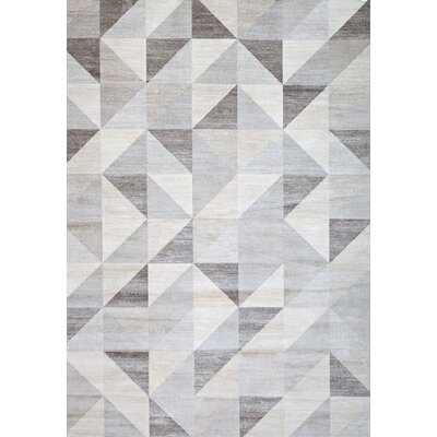 Sonoma Grey/White Area Rug Rug Size: Rectangle 710 x 112