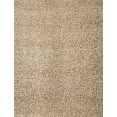 Justine Tan Area Rug Rug Size: 53 x 76