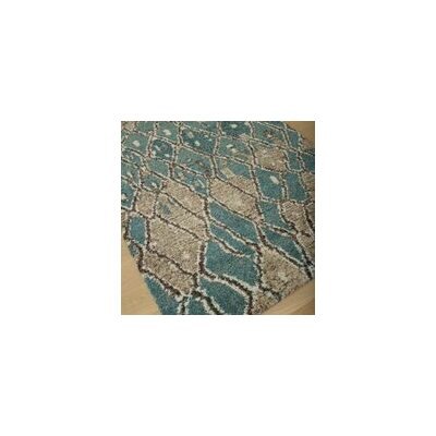 Teasley Blue/Brown/Tan Area Rug Rug Size: 53 x 76