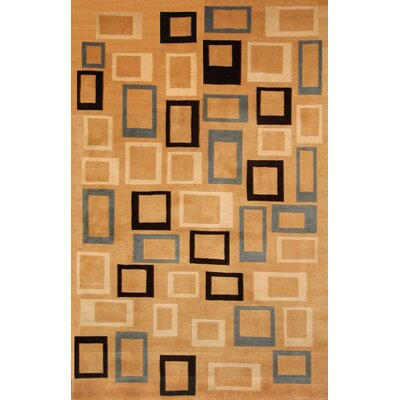 Tawney Hand-Knotted Brown Area Rug