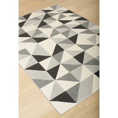 Colesberry Gray/Black Area Rug Rug Size: 53 x 76