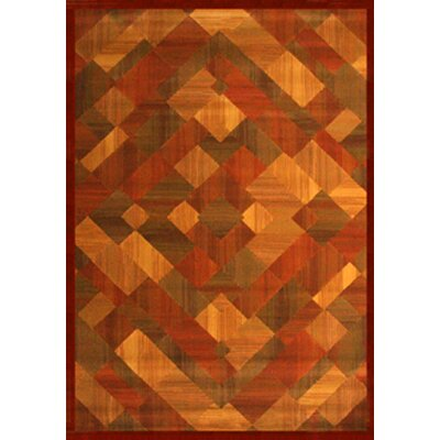 Colfax Brown/Red Area Rug