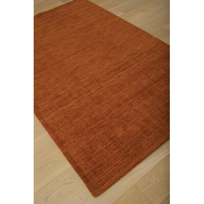 Loring Hand-Tufted Orange Area Rug Rug Size: 5 x 8