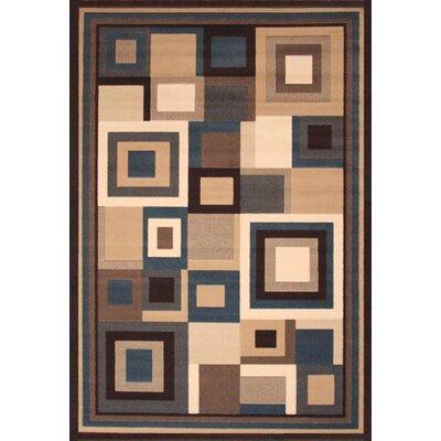 Cerna Beige/Blue Area Rug Rug Size: 53 x 76