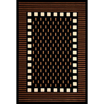 Colesville Chocolate/Black Area Rug Rug Size: 53 x 76