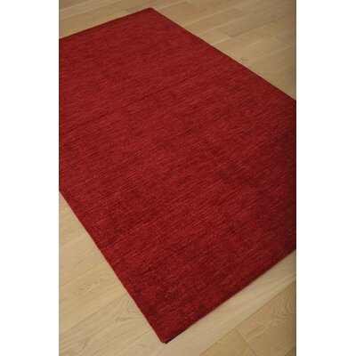 Loring Hand-Tufted Red Area Rug Rug Size: 5 x 8