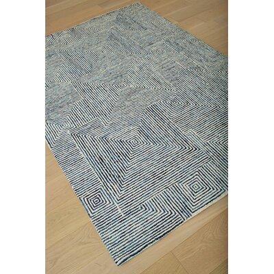 Nikolai Hand-Tufted Blue Area Rug Rug Size: 5 x 8