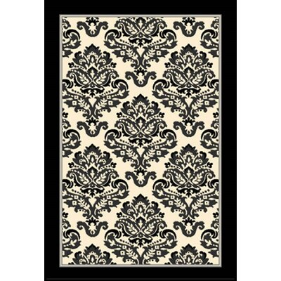 Arden Black/Ivory Area Rug Rug Size: 79 x 106