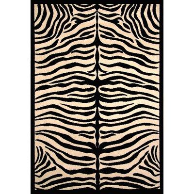 Arber Black/Ivory Area Rug Rug Size: 39 x 56