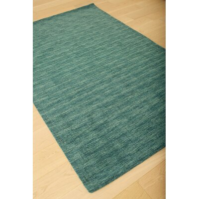 Loring Hand-Tufted Teal Area Rug Rug Size: 5 x 8