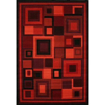 Colesville Red Area Rug Rug Size: 53 x 76