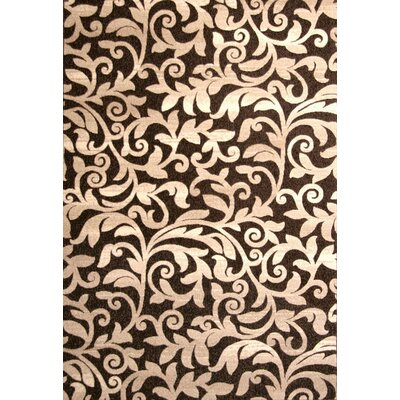 Estella Chocolate/Ivory Area Rug Rug Size: 53 x 76