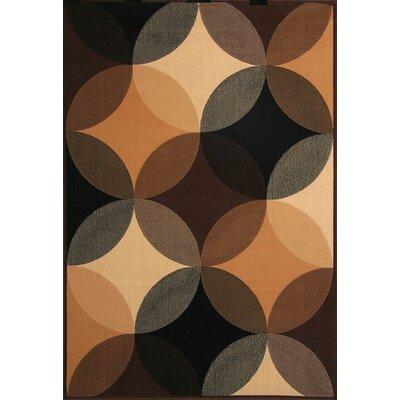 Colesville Beige/Black Area Rug Rug Size: 79 x 106