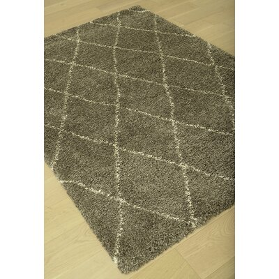 Tefft Charcoal/Ivory Area Rug Rug Size: 79 x 106